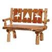Fireside Lodge Traditional Cedar Log Bench