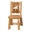 Fireside Lodge Traditional Cedar Log Cut Out Side Chair