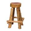 "Fireside Lodge Traditional Cedar Log 24"" Bar Stool"