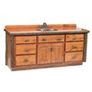 "Fireside Lodge Hickory 72"" Vanity Cabinet Only"