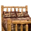 Fireside Lodge Traditional Cedar Log Wood Headboard