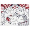 Modern-twist Circus Placemat