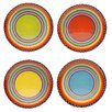 Certified International Tequila Sunrise Salad Plate (Set of 4)