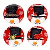 Certified International Top Hat Snowman Canape Plate 4 Piece Set (Set of 4)