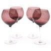 Certified International Glass Stemware Amethyst Red Wine Glasses (Set of 4)