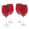 Certified International Glass Stemware Ruby White Wine Glasses (Set of 4)