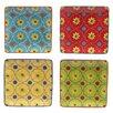 "Certified International Tunisian Sunset 6"" Canape Plate 4 Piece Set (Set of 4)"