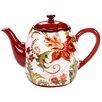 Certified International Spice Flowers Ceramic Teapot