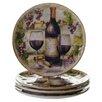 "Certified International Sanctuary Wine 9.25"" Salad Plate (Set of 4)"