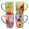 Certified International Floral Bouquet 14 oz. 4 Piece Mug Set