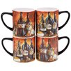 Certified International Private Reserve 15 oz. 4 Piece Mug Set