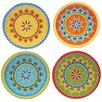 """Certified International Valencia 6.25"""" Canape Plate (Set of 4)"""