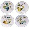 """Certified International Greenhouse 9"""" Fruit Dessert Plate 4 Piece Set"""