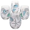 Certified International Sea Finds 4 Piece 22 oz. Stemless Wine Glass Set (Set of 4)