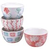 Certified International Water Coral 4 Piece Ice Cream Bowl Set