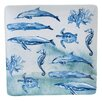 Certified International Sea Life Square Platter