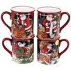 Certified International The Night Before Christmas 4 Piece Coffee Mug Set