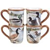Certified International Lake Life 4 Piece Mug Set