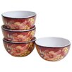 Certified International Watercolor Poppies Ice Cream Bowl (Set of 4)