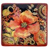 Certified International Watercolor Poppies Square Platter
