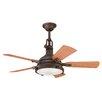 """Kichler 44"""" Hatteras Bay 5 Blade Patio Ceiling Fan"""
