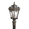 """Kichler Tournai 4 Light 230"""" Outdoor Post Lantern Set"""