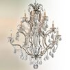 Troy Lighting Montparnasse 15 Light Crystal Pendant