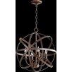 Quorum Celeste 4 Light Candle Chandelier