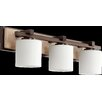 Quorum 3 Light Travertine Vanity Light