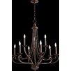 Quorum Lariat 9 Light Candle Chandelier