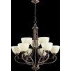 Quorum Lariat 9 Light Chandelier