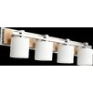 Quorum 4 Light Travertine Vanity Light