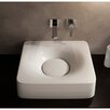 Scarabeo by Nameeks Fuji Ceramic Wall Mounted Vessel Bathroom Sink