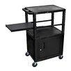 H. Wilson Company Presentation AV Cart with Side Pullout Shelf