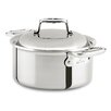 All-Clad D7 3.5-qt. Stainless Steel Round Dutch Oven with Lid