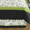 Sweet Jojo Designs Lime and Black Spirodot Queen Bed Skirt