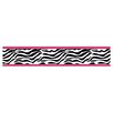 "Sweet Jojo Designs Zebra 15' x 6"" Animal Print Border Wallpaper"
