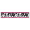 "Sweet Jojo Designs Zebra 15' x 6"" Animal Print Border Wallpaper"