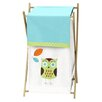 Sweet Jojo Designs Hooty Turquoise and Lime Laundry Hamper