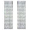 Sweet Jojo Designs Argyle Green Blue Cotton Curtain Panels (Set of 2)