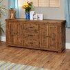 Baumhaus Heyford Rough Sawn 4 Door 3 Drawer Sideboard