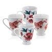 Sabichi Blossom 4 Piece Mug Set (Set of 4)