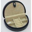 Budd Leather Zippered Half Moon Jewelry Box