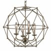TransGlobe Lighting 4 Light Globe Pendant