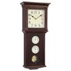 London Clock Company Thermo / Hygro Pendulum Wall Clock