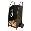 Heibi Fireplace Log Basket in Black and Mica