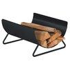 Heibi Fireplace Log Basket in Black and Mica