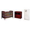 AFG Baby Furniture Leila Crib and Changer Combo with 150 Coil Mattress