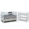 AFG Baby Furniture Nadia Convertible 2 Piece Crib Set