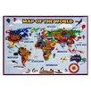 Smithsonian Rugs World Map Area Rug